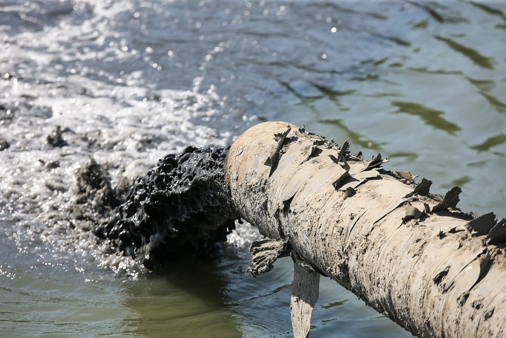 Заводы загрязняют воды