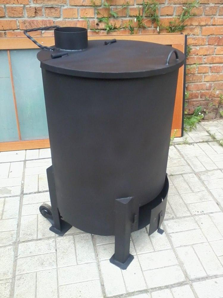 Печь для сжигания садового мусора