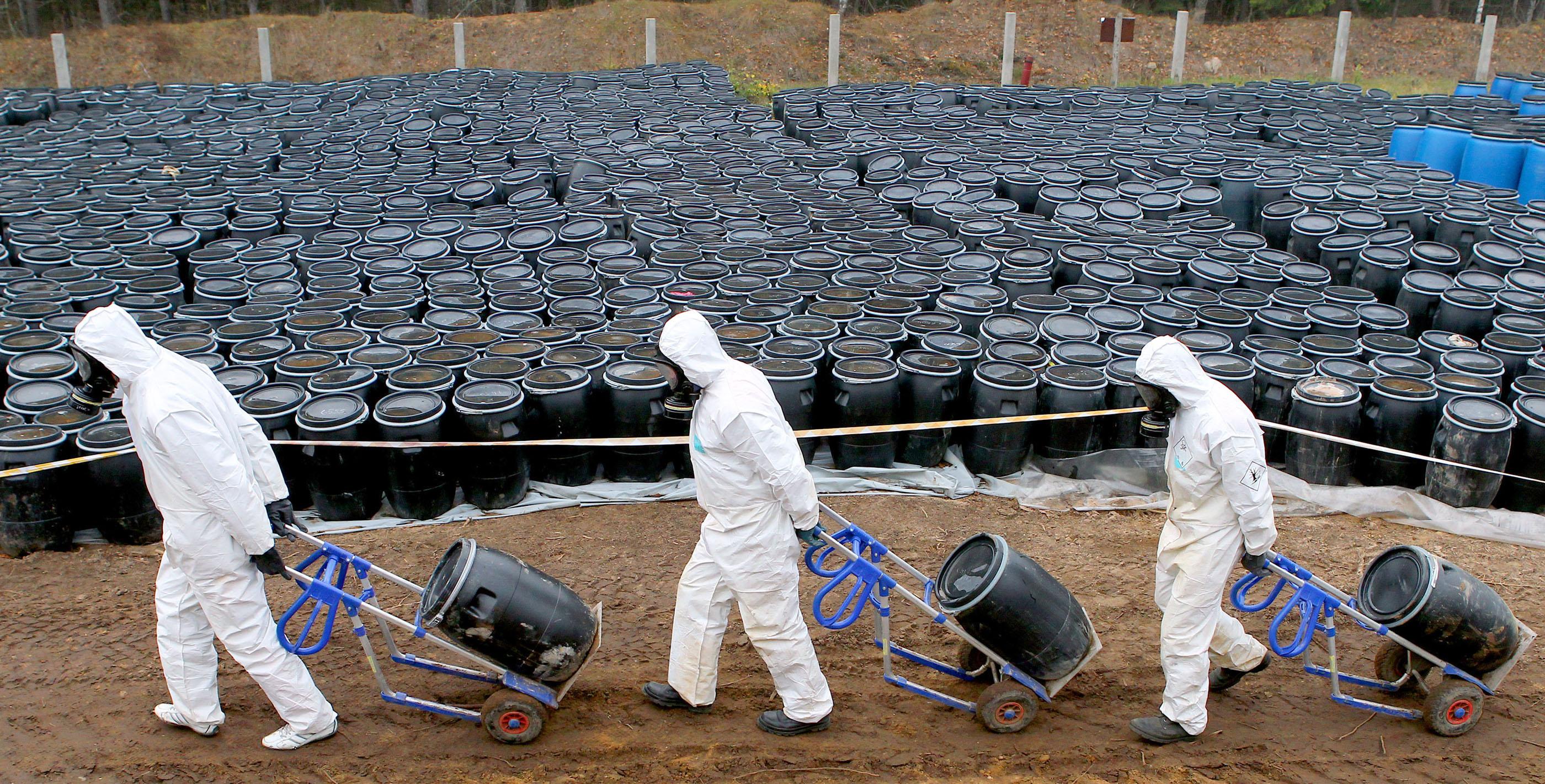 Захоронение нефтяных отходов