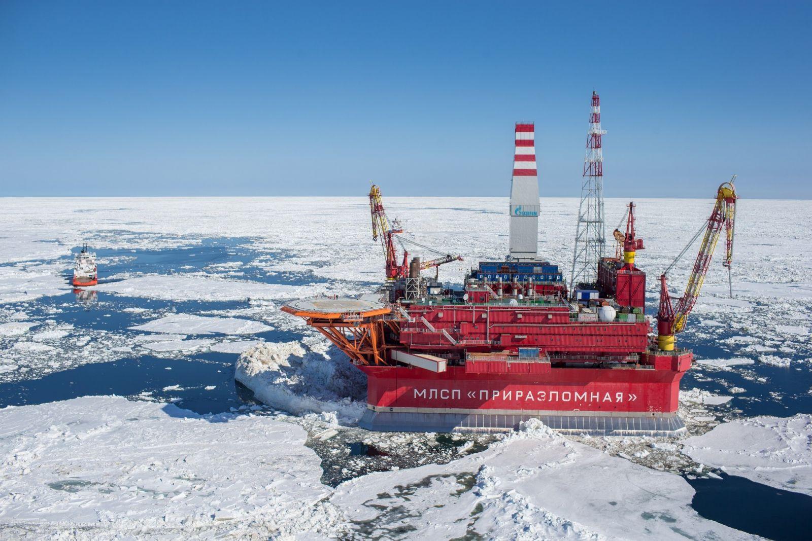 платформа по добыче газа