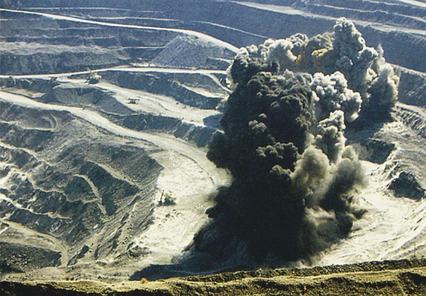 выделение газа при отвале горной породы