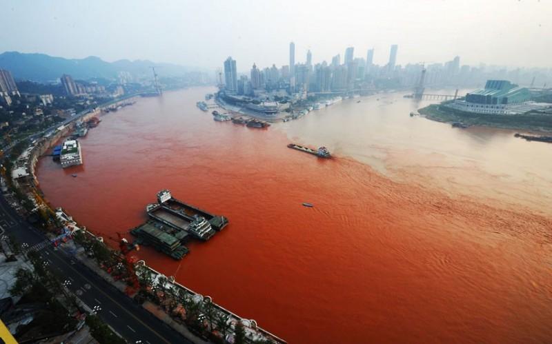 Загрязненное море Китая