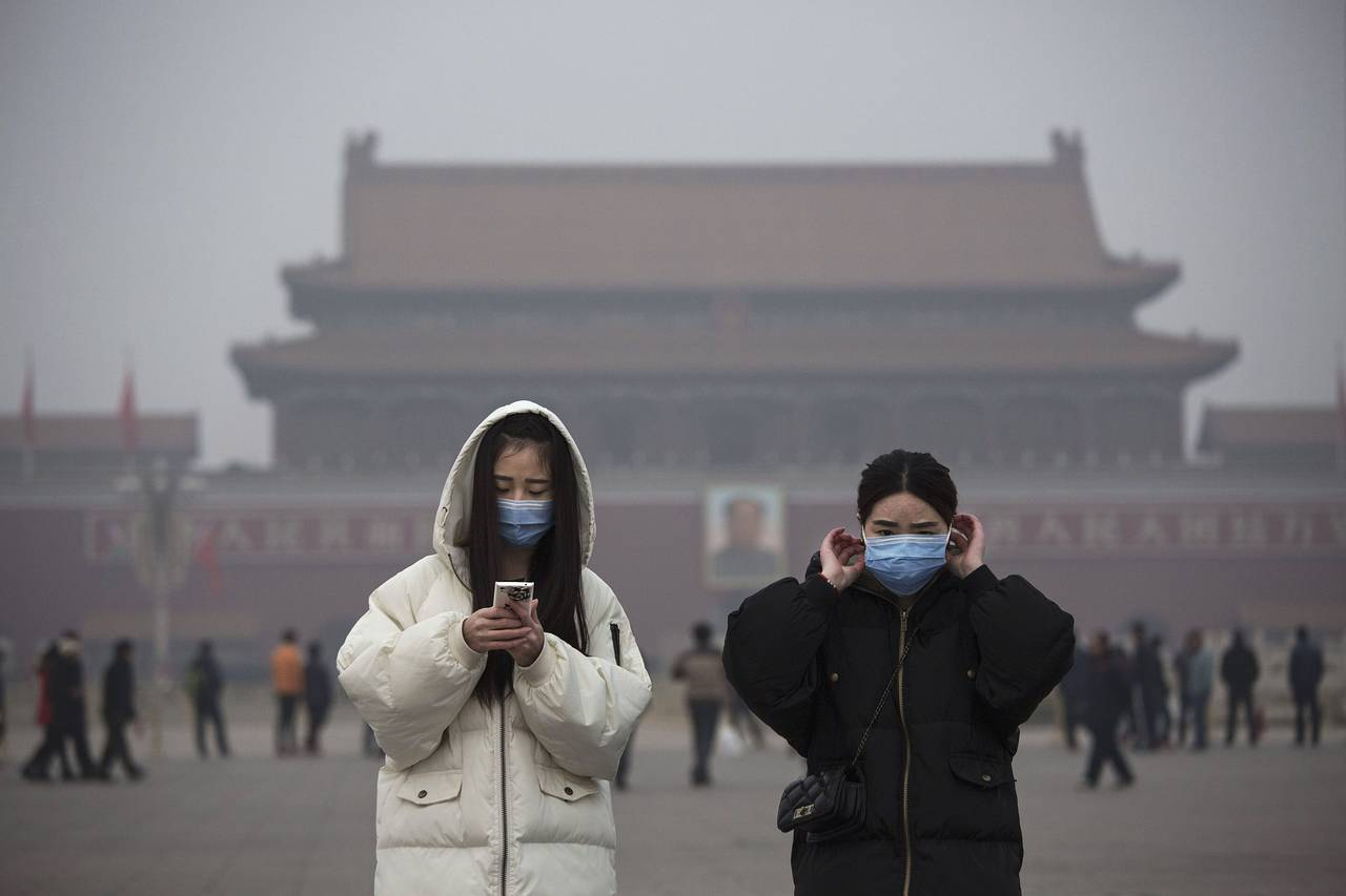 Жители Китая страдают от загрязненного воздуха