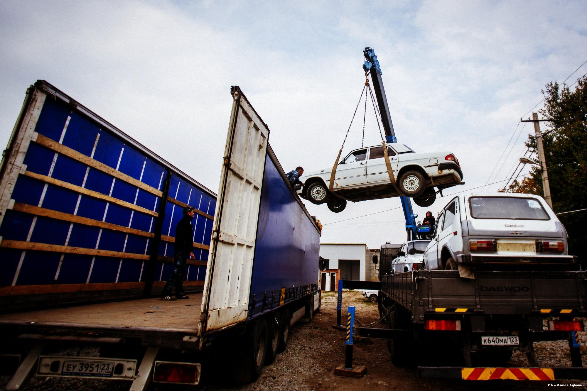 грузовой транспорт для перевозки