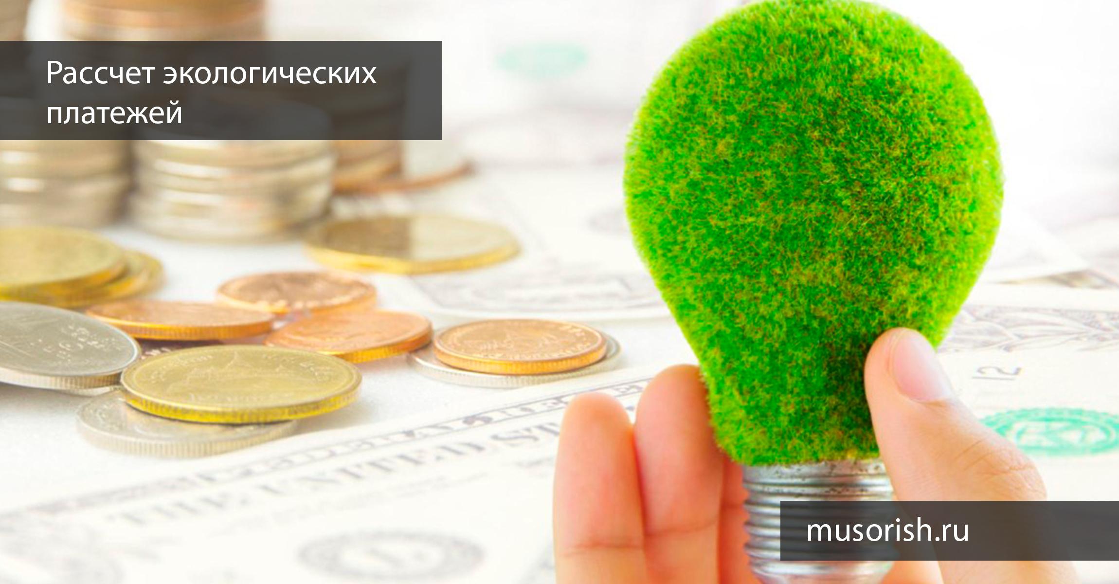 рассчет экологических платежей