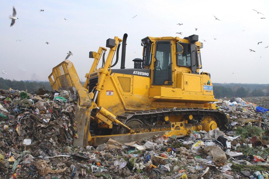Процесс захоронения отходов