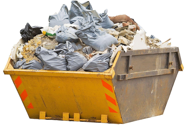 мусор в контейнере