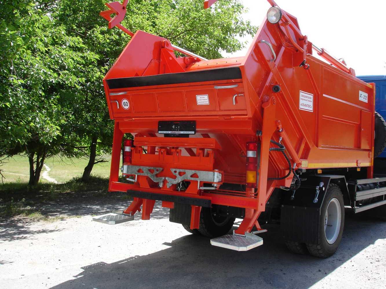мусоровоз с ручным уплотнителем