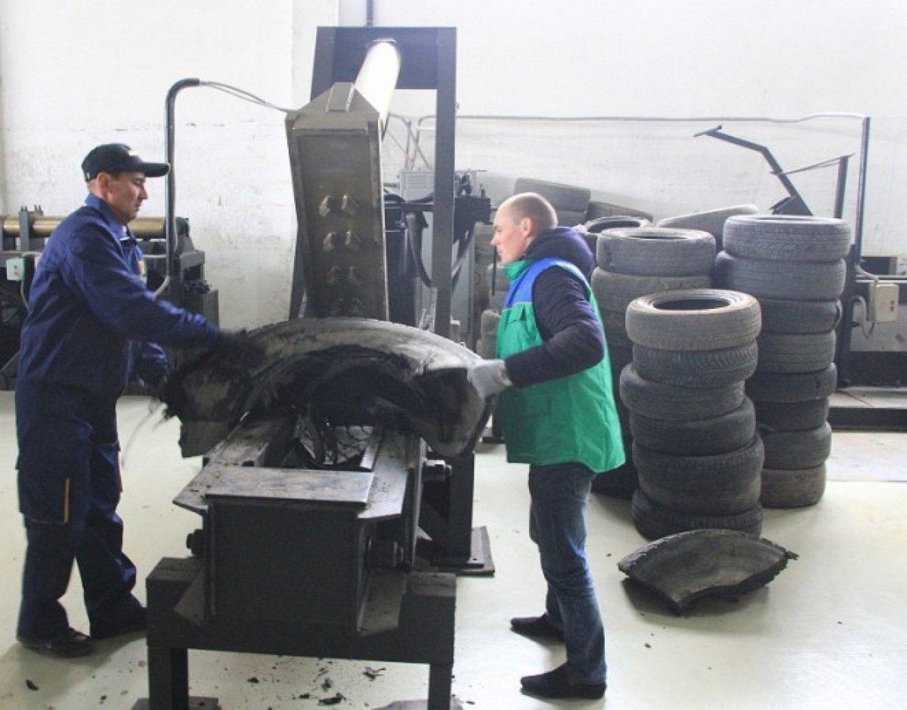 работа по переработке шин