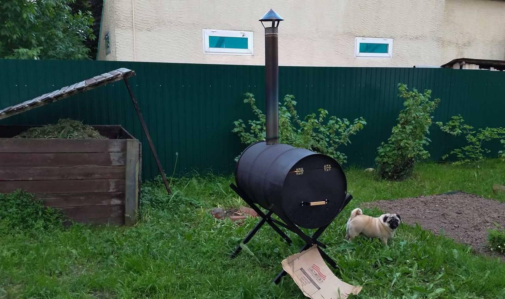 самодельная печь для сжигания древесных отходов
