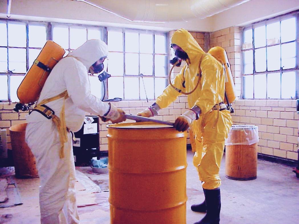 сбор и захоронение радиоактивных отходов