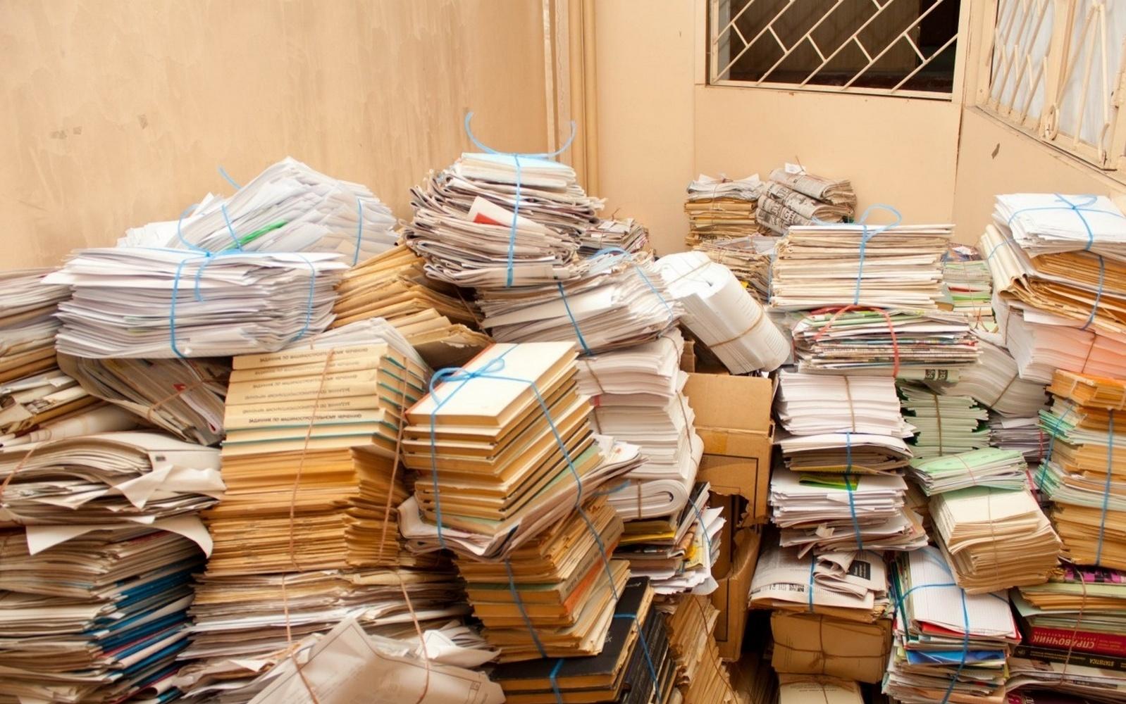 склад картонных отходов