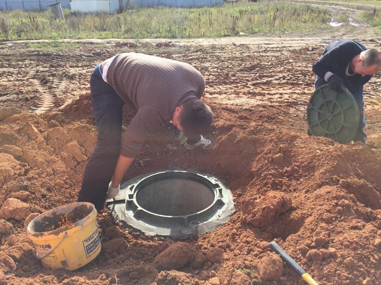 строительство выгребной ямы