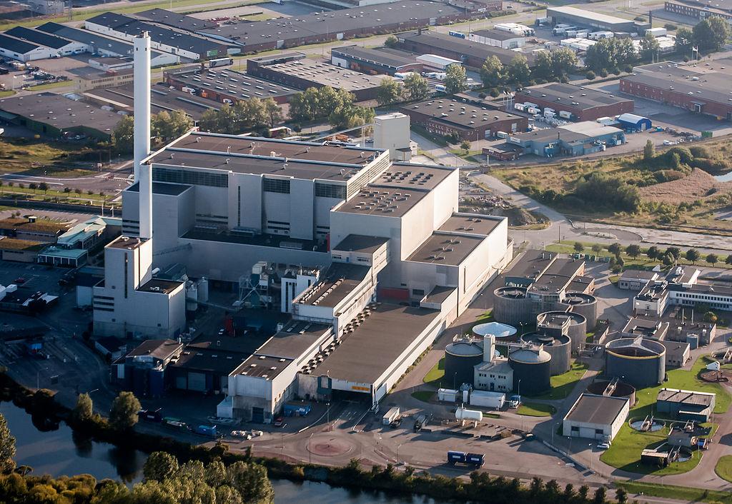Мусоросжигающий завод в Швейцарии
