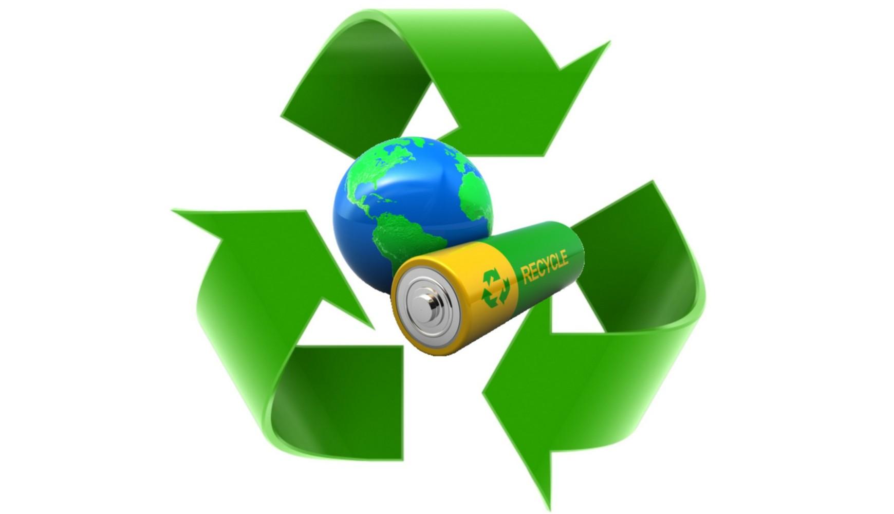 утилизация батареек эмблема