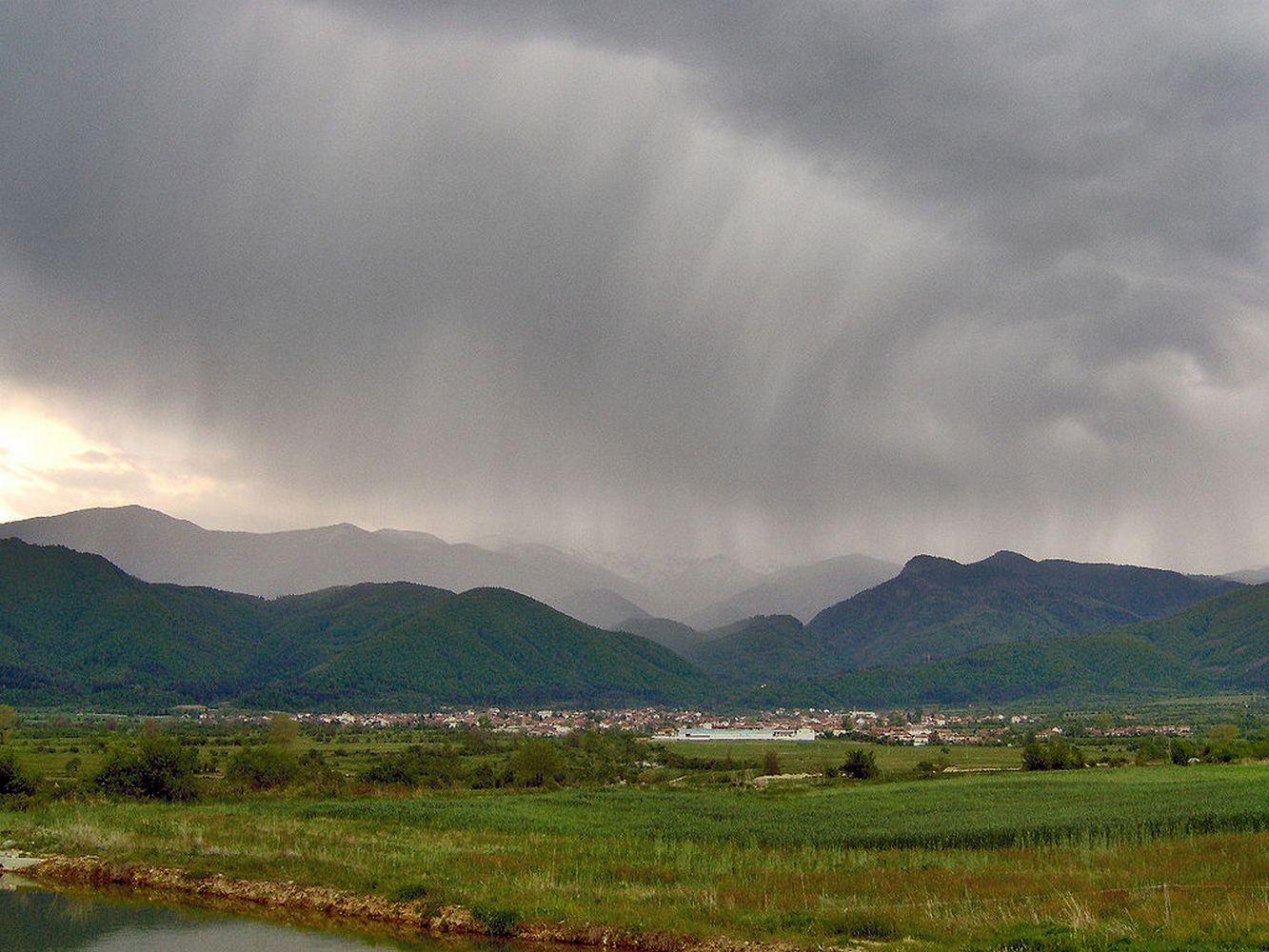 выпадение кислотного дождя