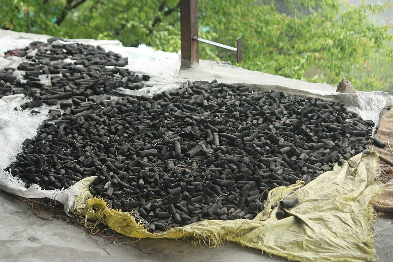 пеллеты из отходов подсолнечника
