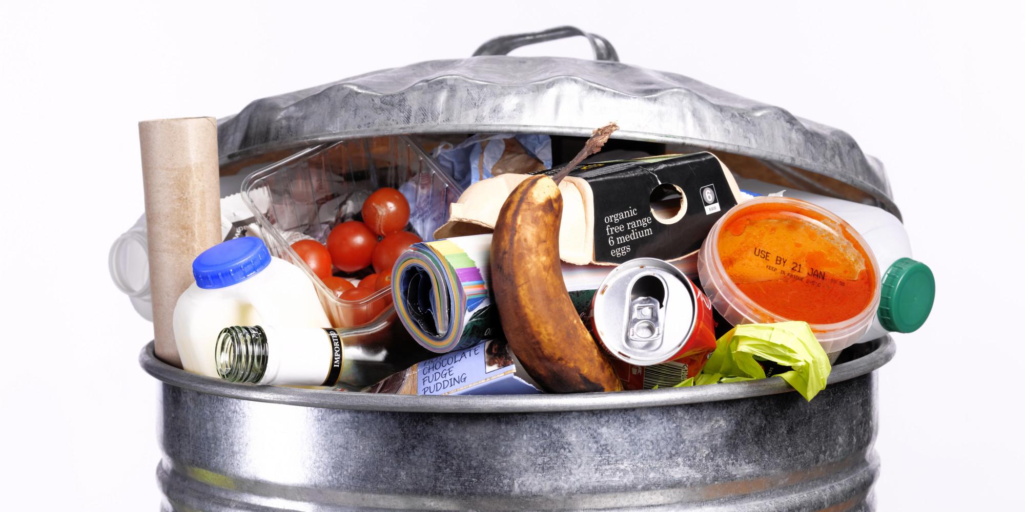 корзина с пищевыми отходами
