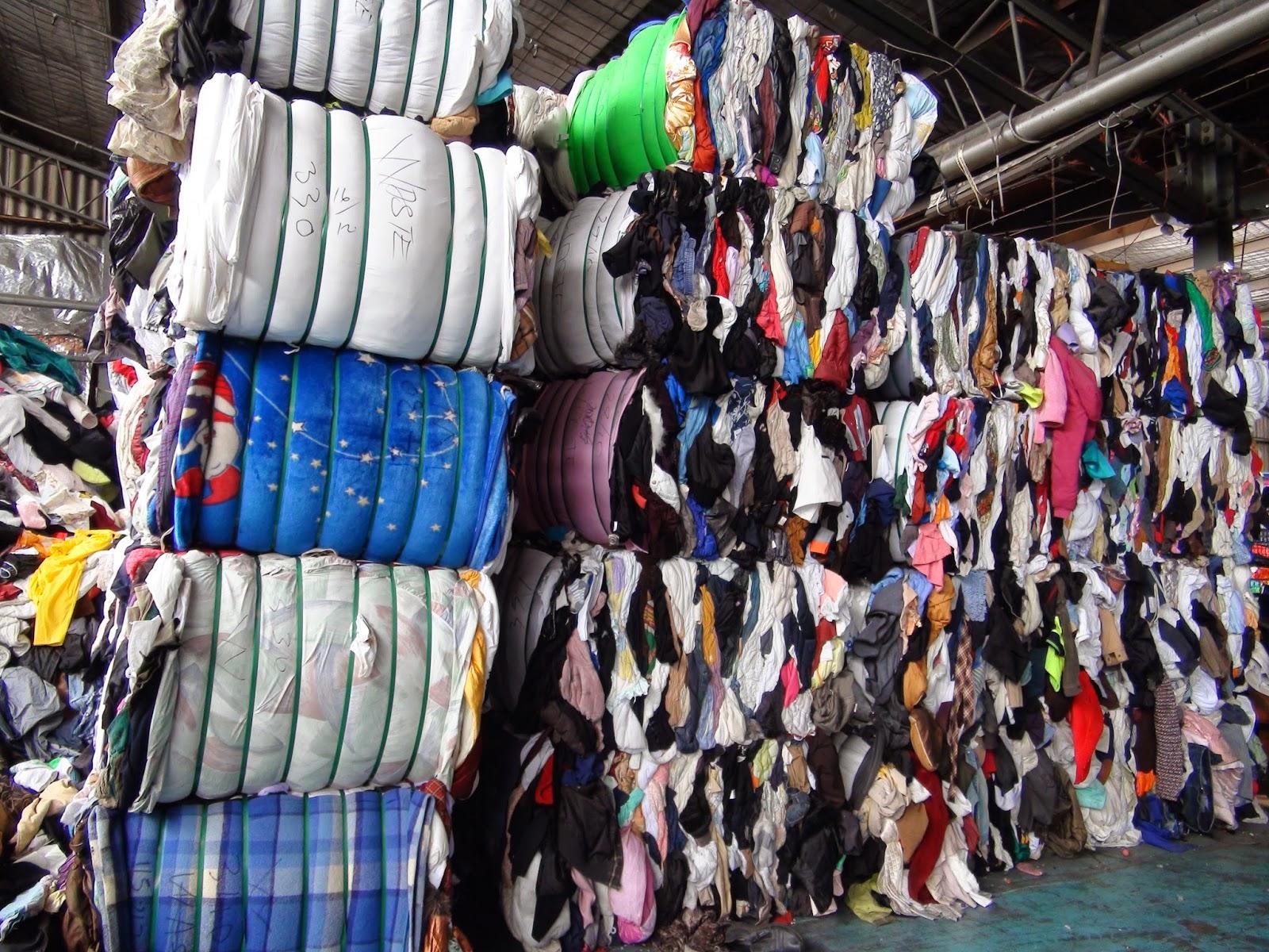 Переработка ткани в ветошь